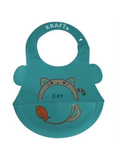 Kraft Kraft Silikon Mama Önlüğü Renkli